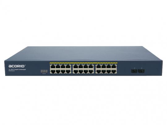 GLS1724P2F unmanaged PoE Switch