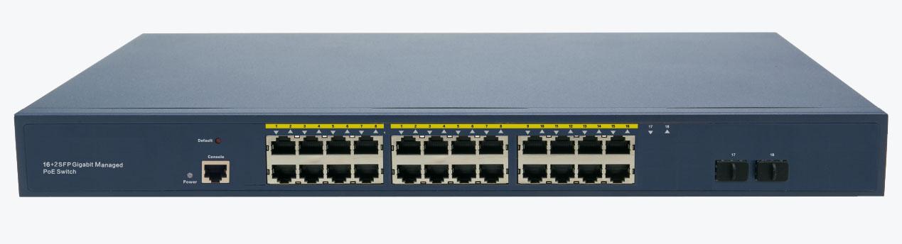 GLS7700-24P2F Managed PoE Switch 24 PoE