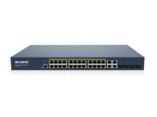 GLS7700-24P4C Managed PoE Switch 24 PoE GE port x 4*GE + 4*SFP (Combo) Uplink 450W
