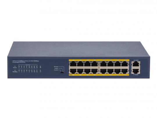 LS1716P2G unmanaged PoE Switch